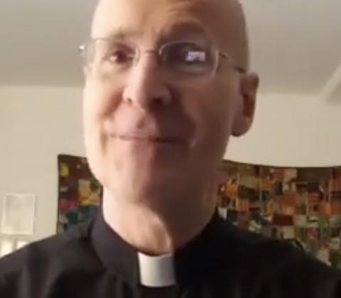 Screenshot from video of Fr. James Martin, SJ.
