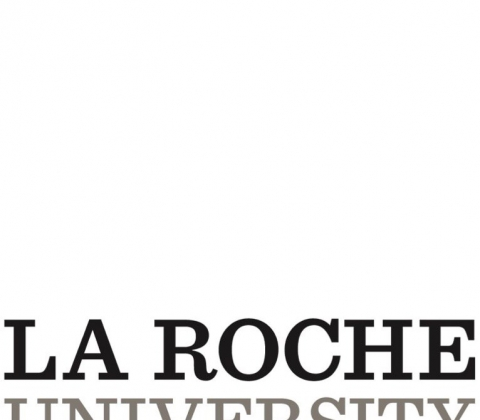 Logo of La Roche University.