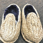 Replica shoes made from corn husks